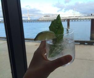 How to Make a Basil Lemongrass Vodka Tonic