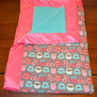 Flannel Baby Blanket With Satin Binding