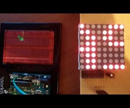 Arduino 8x8 Dot Led Matrix Scrolling Text Calculator