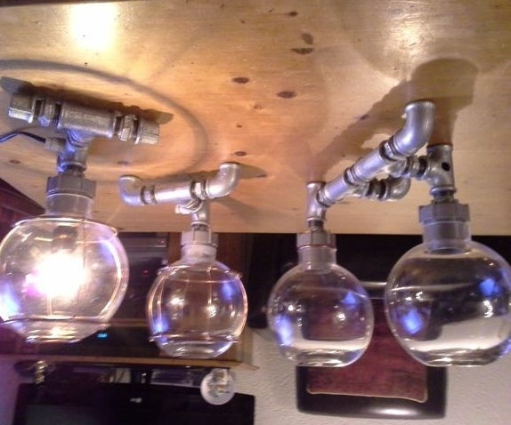 Steampunk - Pipe Lamps,industrial