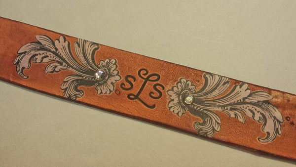 DIY Monogram Leather Bracelet