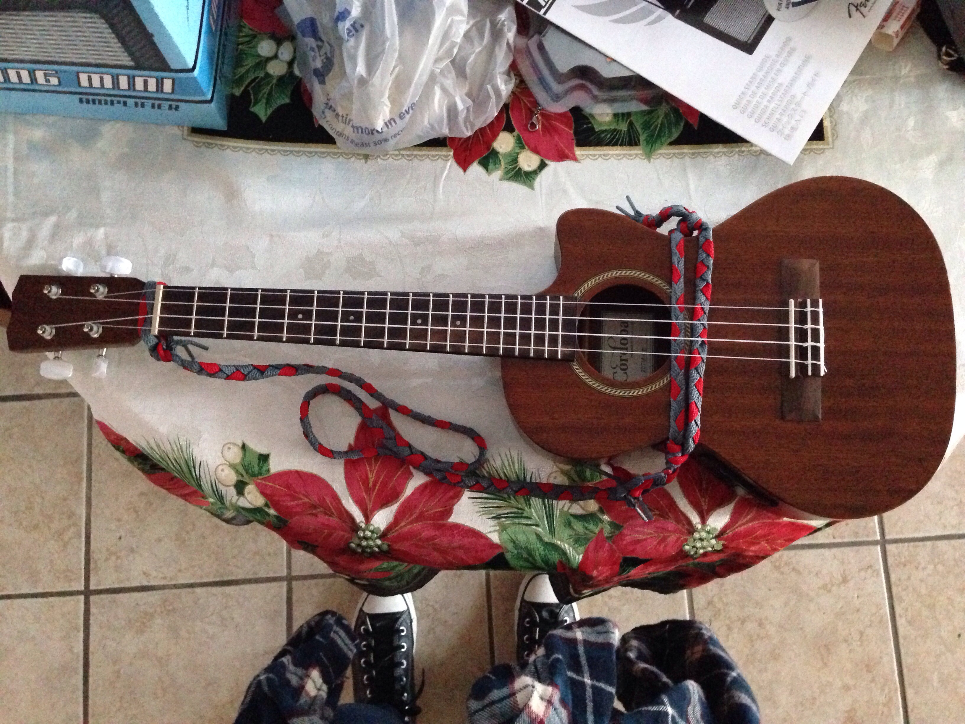 DIY No-Drill Braided Ukulele Strap