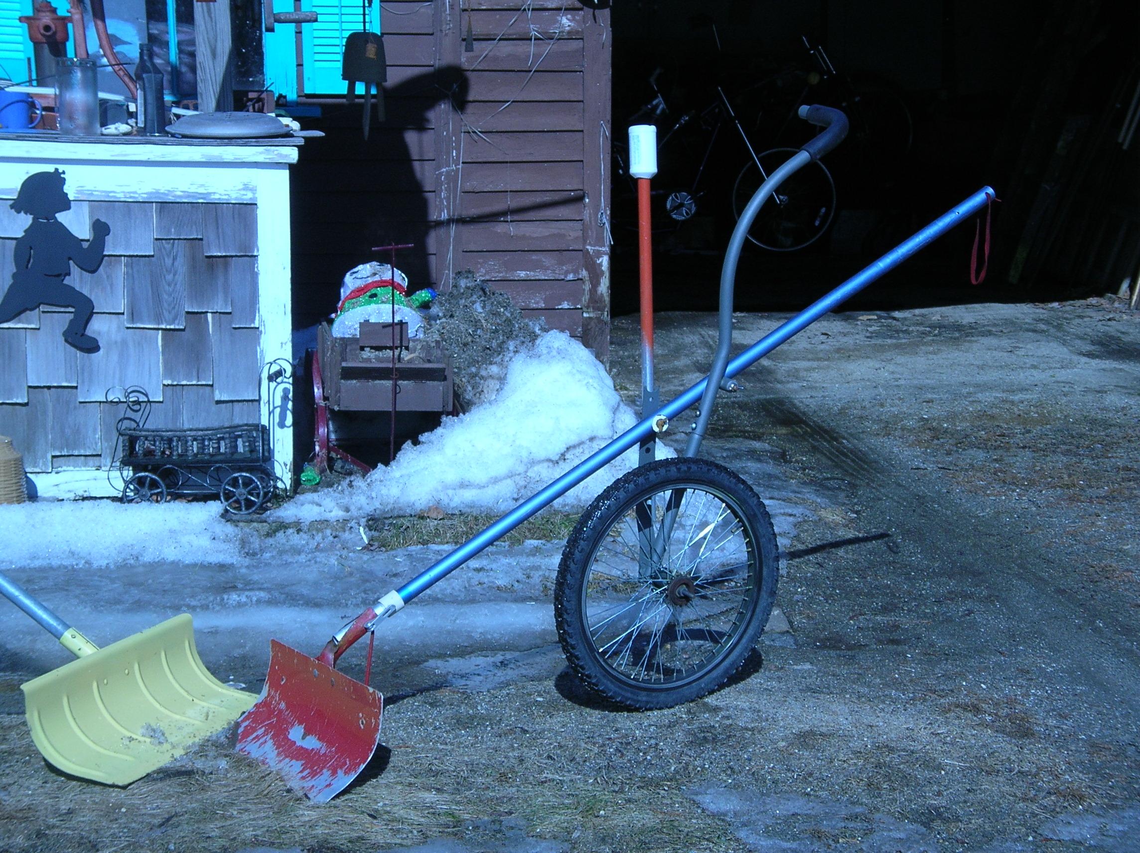 roof snow plow