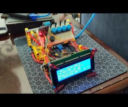Lcd Clock With Humidity and Temperature Using DS3231 With Alarm