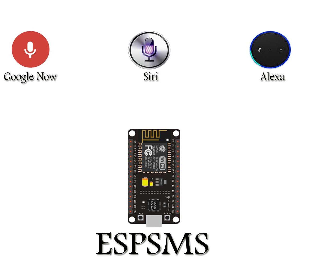 DIY personal assistant ESPSMS using Esp8266 12e