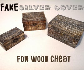 Fake Silver Cover for Wood Chest