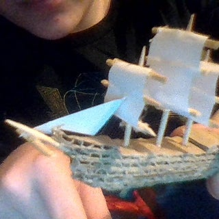 Cardboard Ship Model