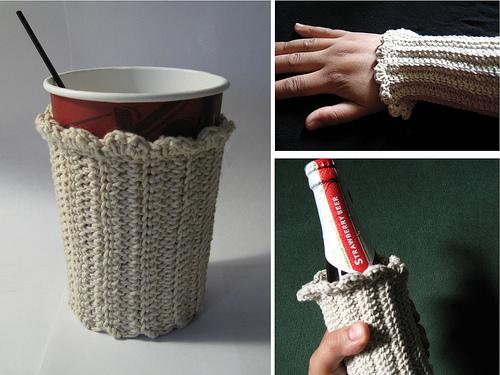 Crochet coffee cuff