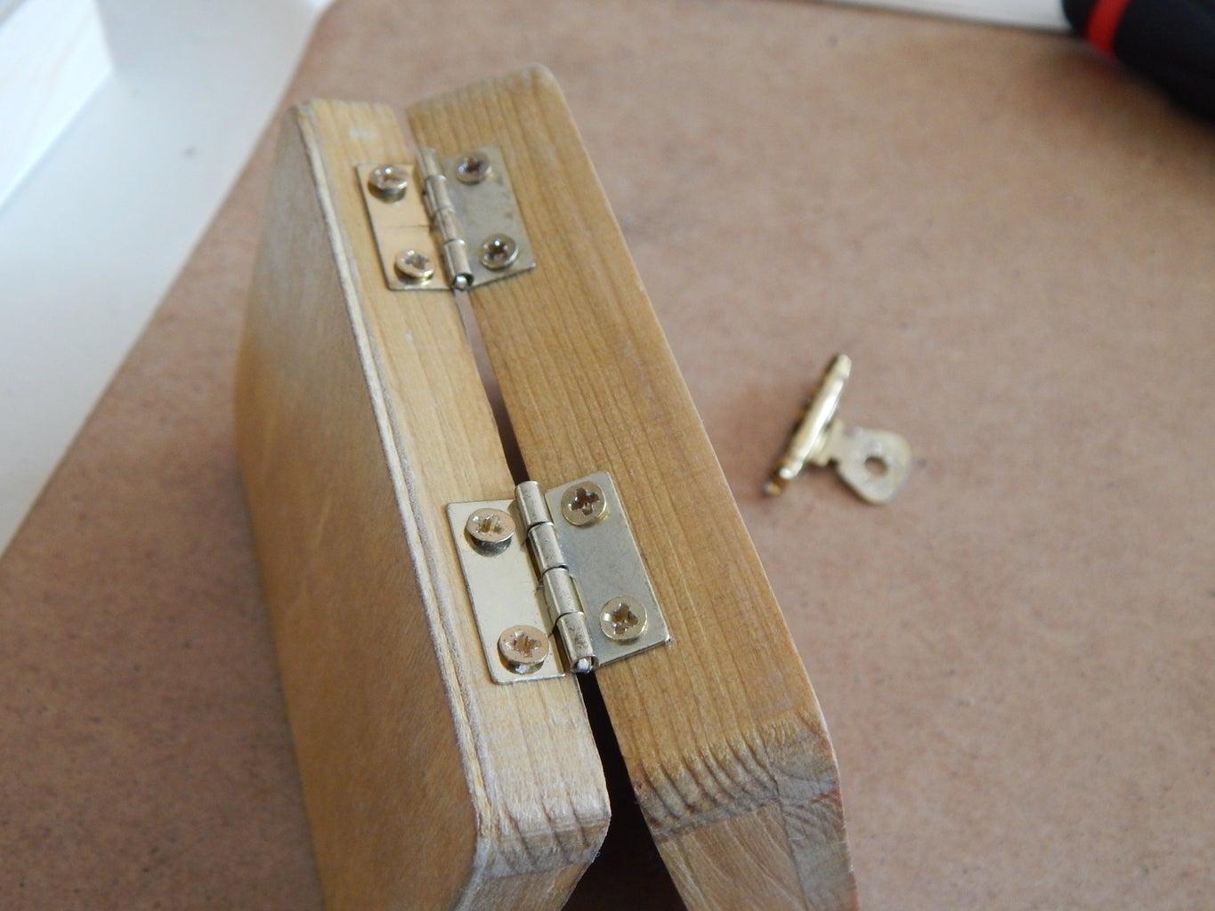 Installation of Brass Hinges and Latch