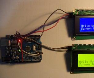 Arduino Dual 20x4 Display