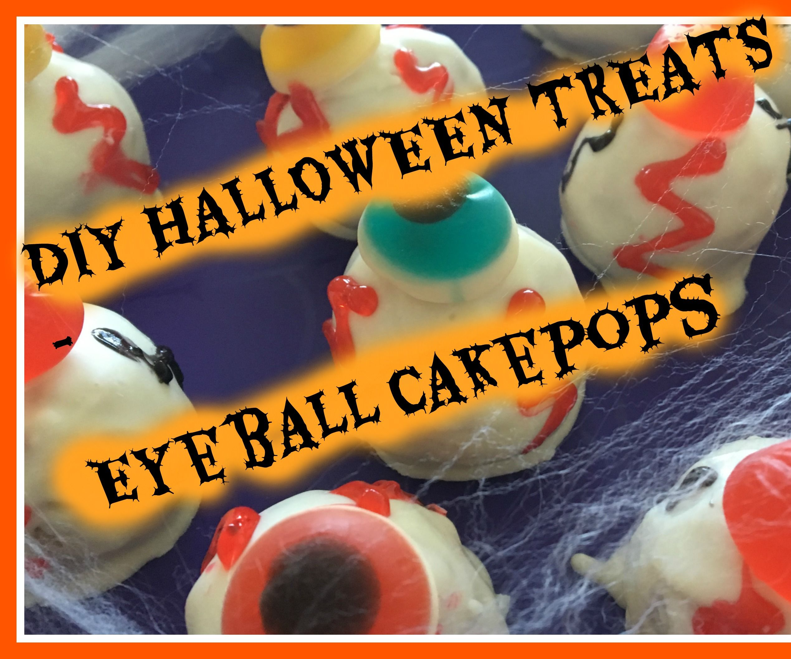 Halloween Eyeball Cake Pop Tutorial