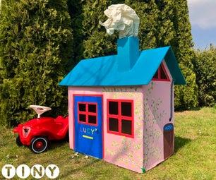 Turn a Cardboard Box Into a Playhouse