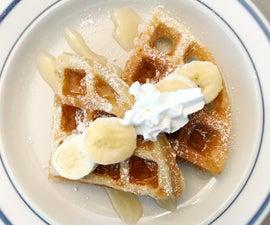 Scrumptious Banana Bread Waffles