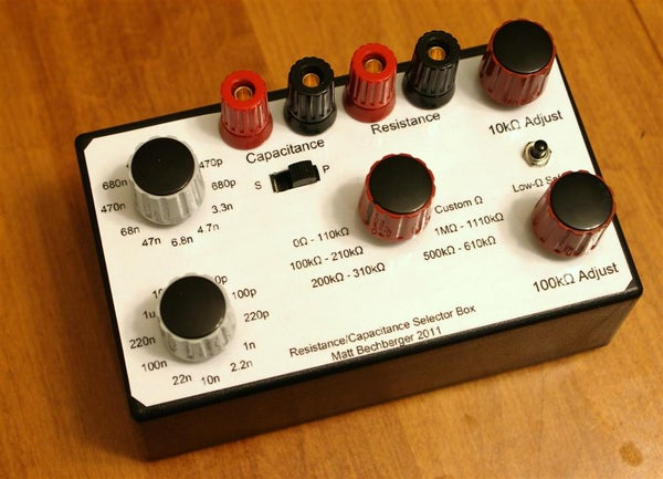 Build a Resistor/Capacitor Selection Box