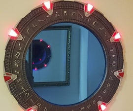 Stargate Mirror With Visual and Sound Effects