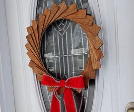 Christmas Wreath Made From Scrap Wood