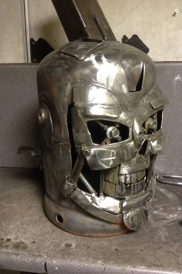 Terminator Gas Bottle Log Burner