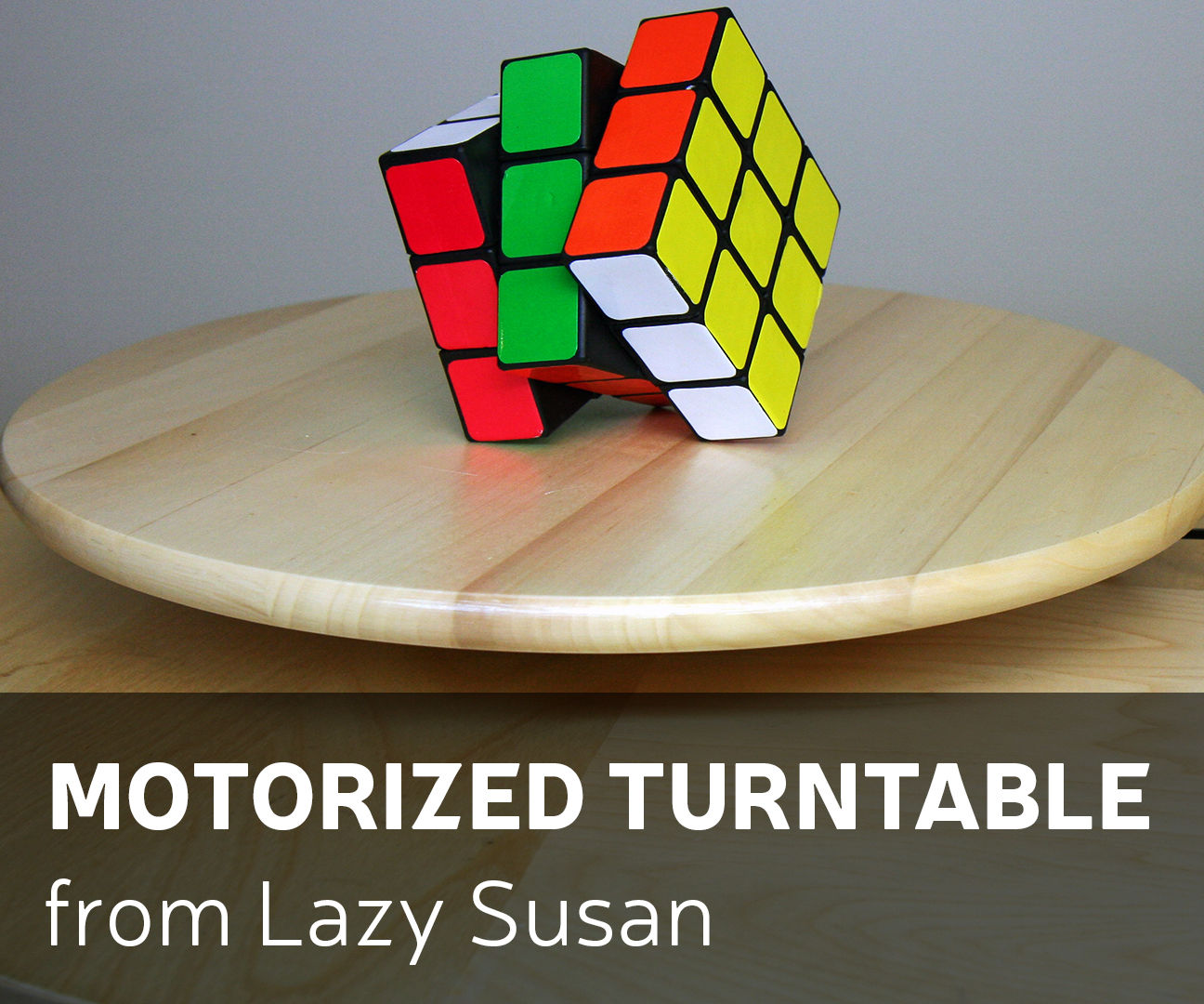 How to Make Motorized Turntable From Lazy Susan