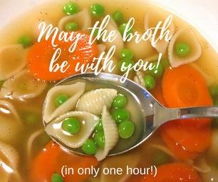 压力炖锅鸡汤只有1小时