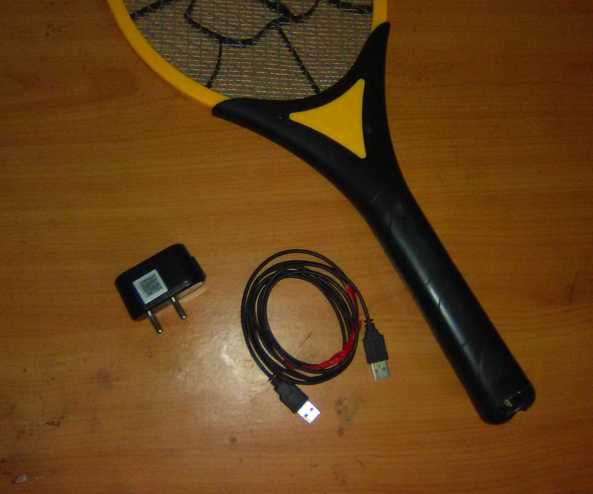 USB charge mosquito racket