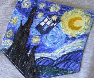 Starry Night & Tardis Pocket Shirt