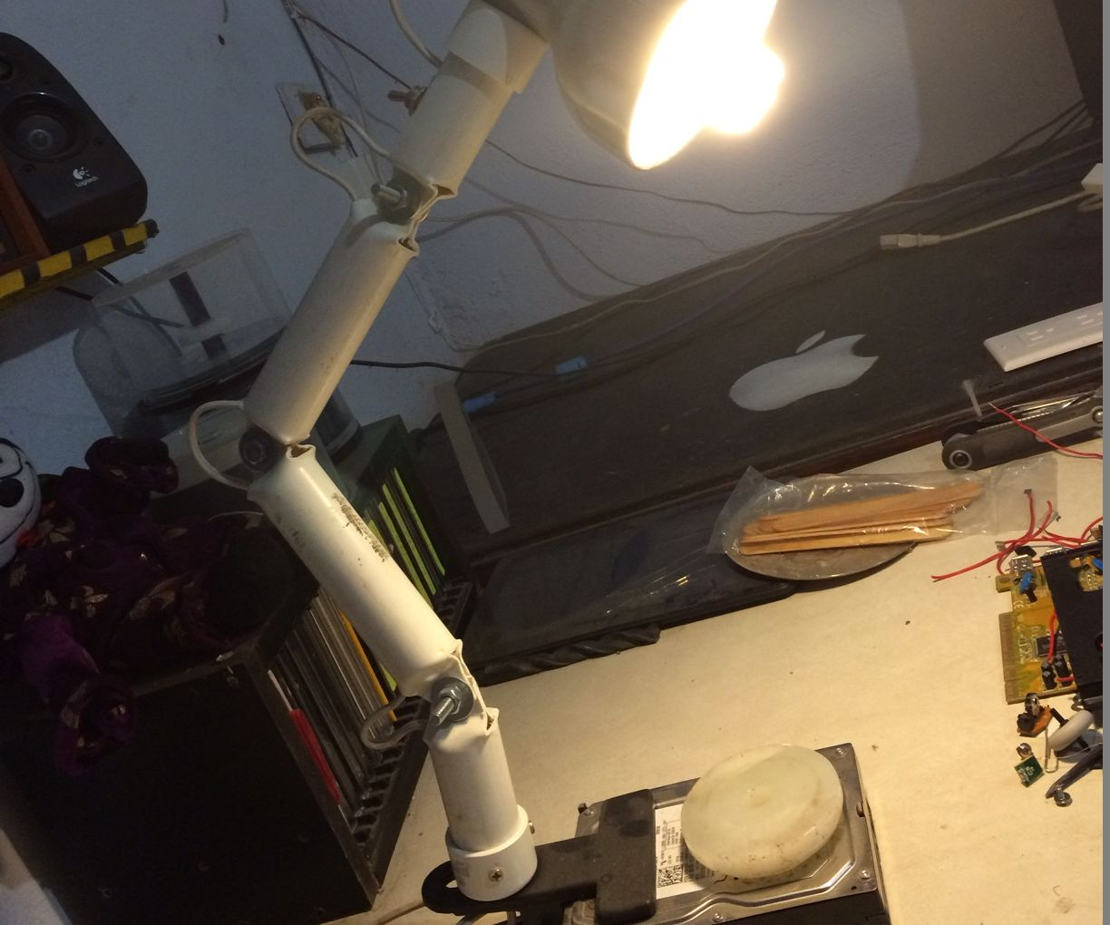 Desk Lamp, With Articulated Arm