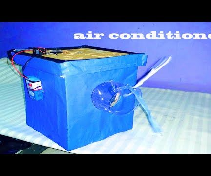 how to make air conditioner at home -lets make this homemade air conditioner