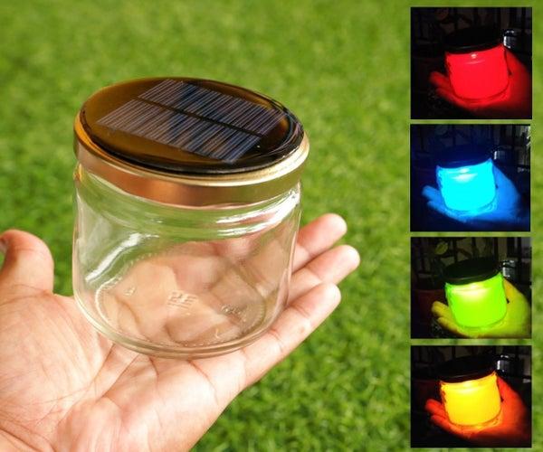 DIY Rainbow Solar Mason Jar