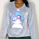 DIY 3D Light-Up Snow Globe Ugly Christmas Sweater