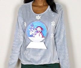 DIY 3D Light-Up Snow Globe Ugly Christmas Sweater