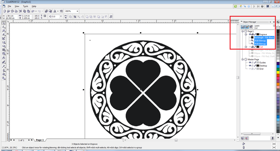 Select the Engraving Layers