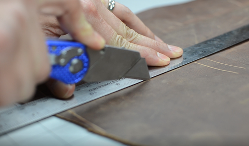 Tracing and Cutting the Leather