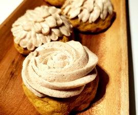 南瓜蛋糕饼干加香料奶油芝士冰
