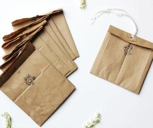 DIY Brown Paper Bag Packaging