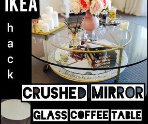 咖啡桌改造|被击碎的镜子玻璃咖啡桌