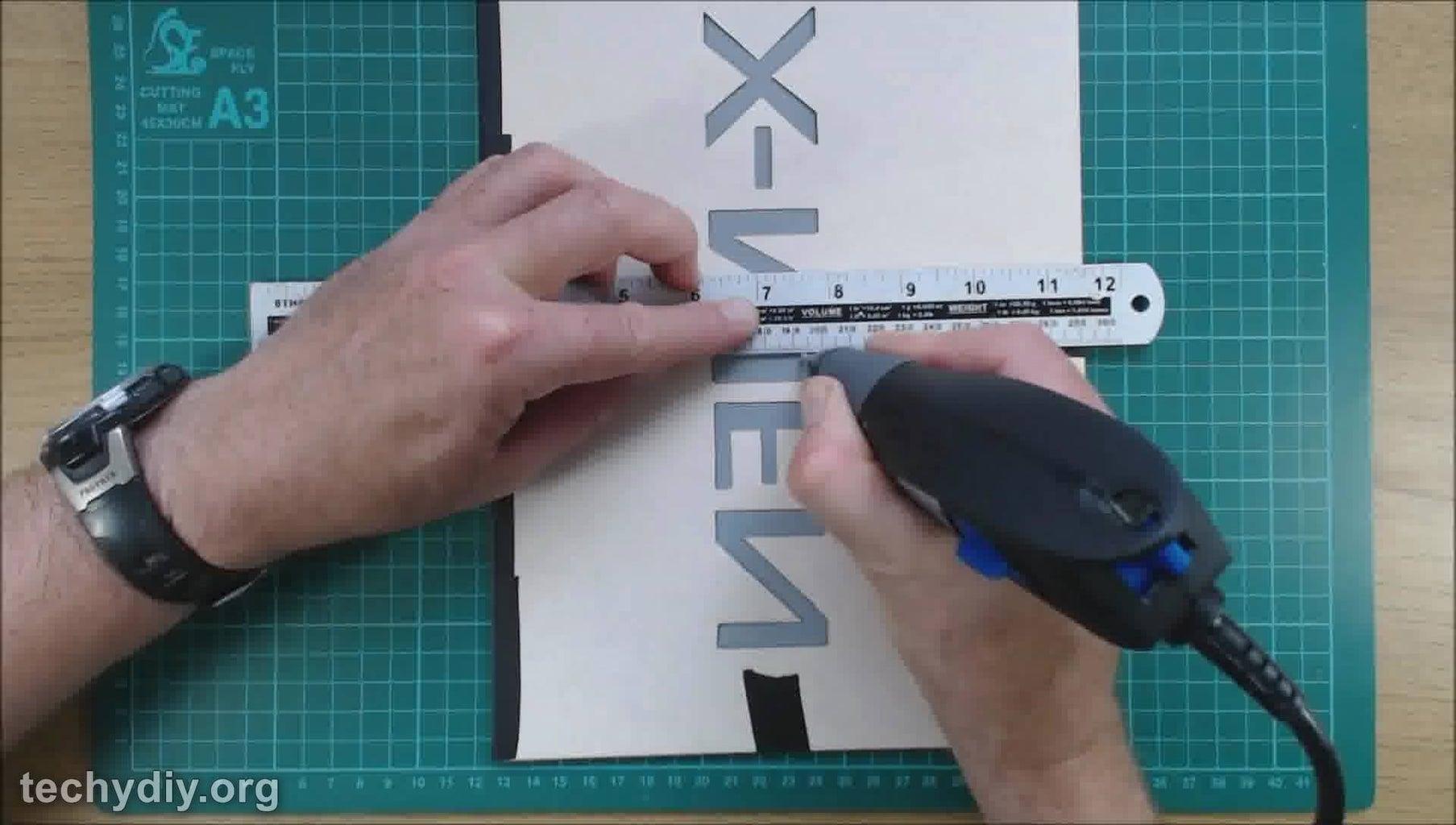 Engrave the Acrylic Mirror Sheet