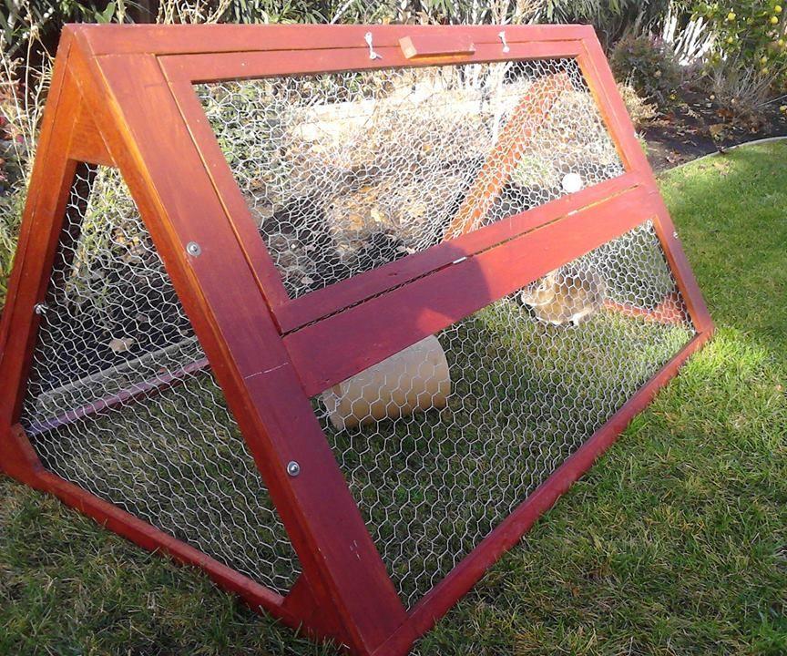 Knockdown Outdoor Rabbit Tractor