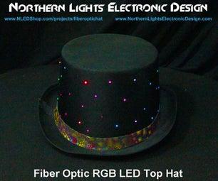 Fiber Optic RGB LED Top Hat