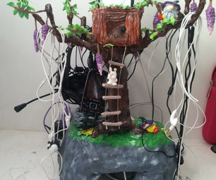 Cold Porcelain Clay Electronics Holder Tree