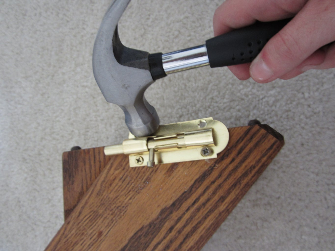 Locking the Board to the Wall