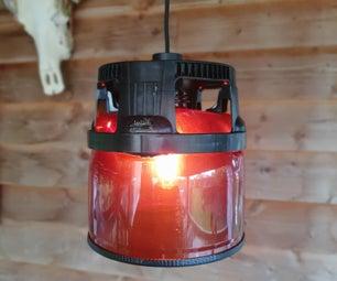 DIY塑料啤酒桶灯