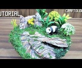 How to Make Realistic Jungle Diorama|Panda Diorama|Easy Art & Craft Tutorial