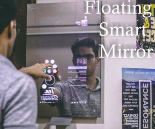 Floating Smart Magic Mirror From Old Laptop With Alexa Voice Recognition