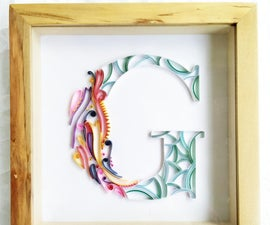 Colorful Paper Quilling Monogram G for Graduation