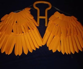 My Phoenix Wings - Orange Maniac (Made Out of 200+ Chart Paper Feather Leaves) [Video WIP]