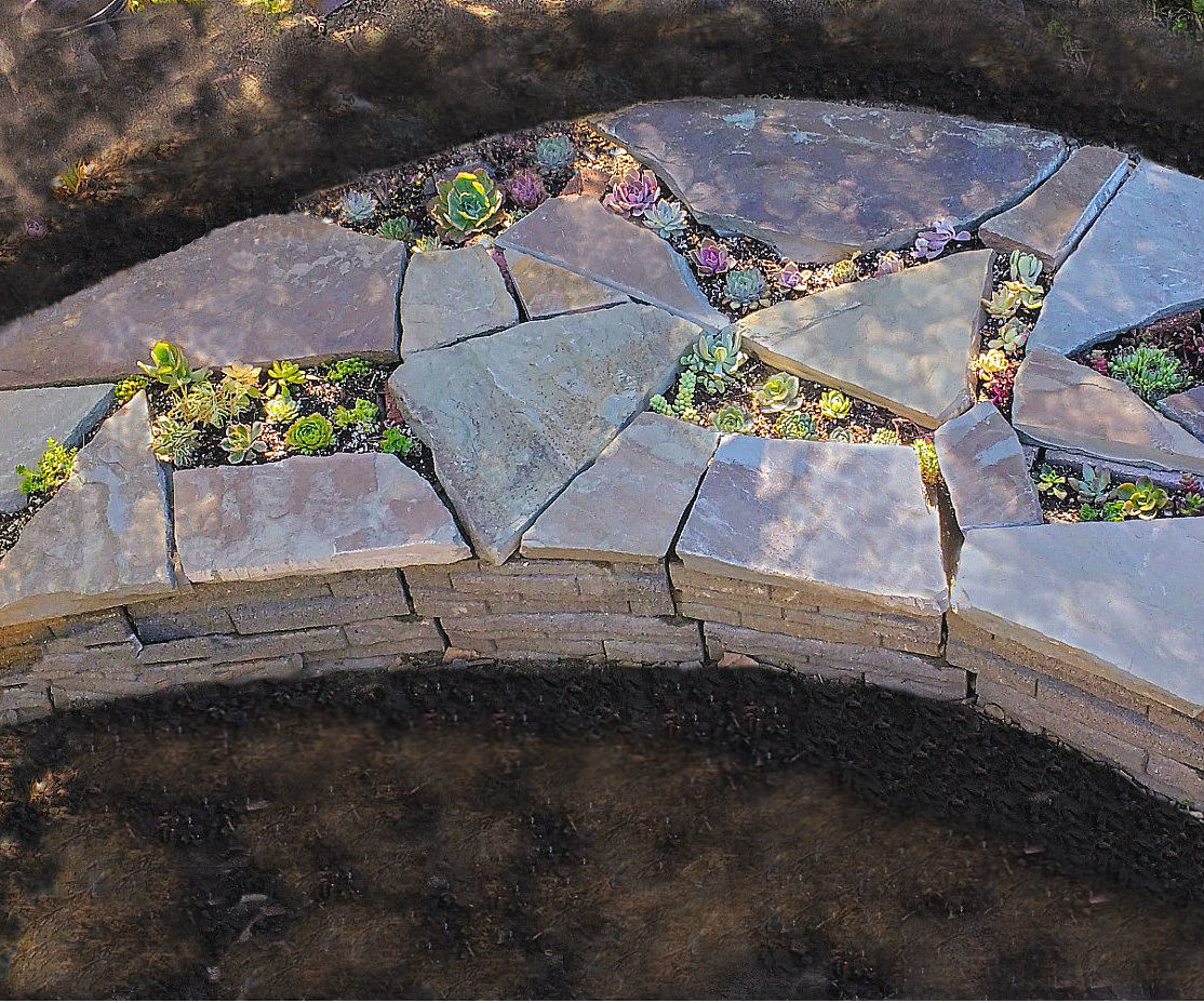 Succulent Bed With Seating