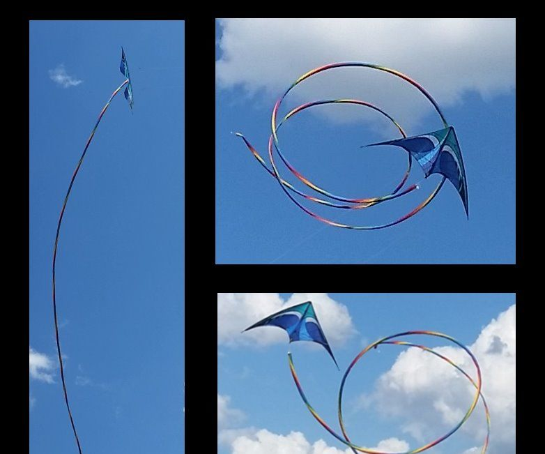 A Spiral Rainbow Kite Tail From Scratch