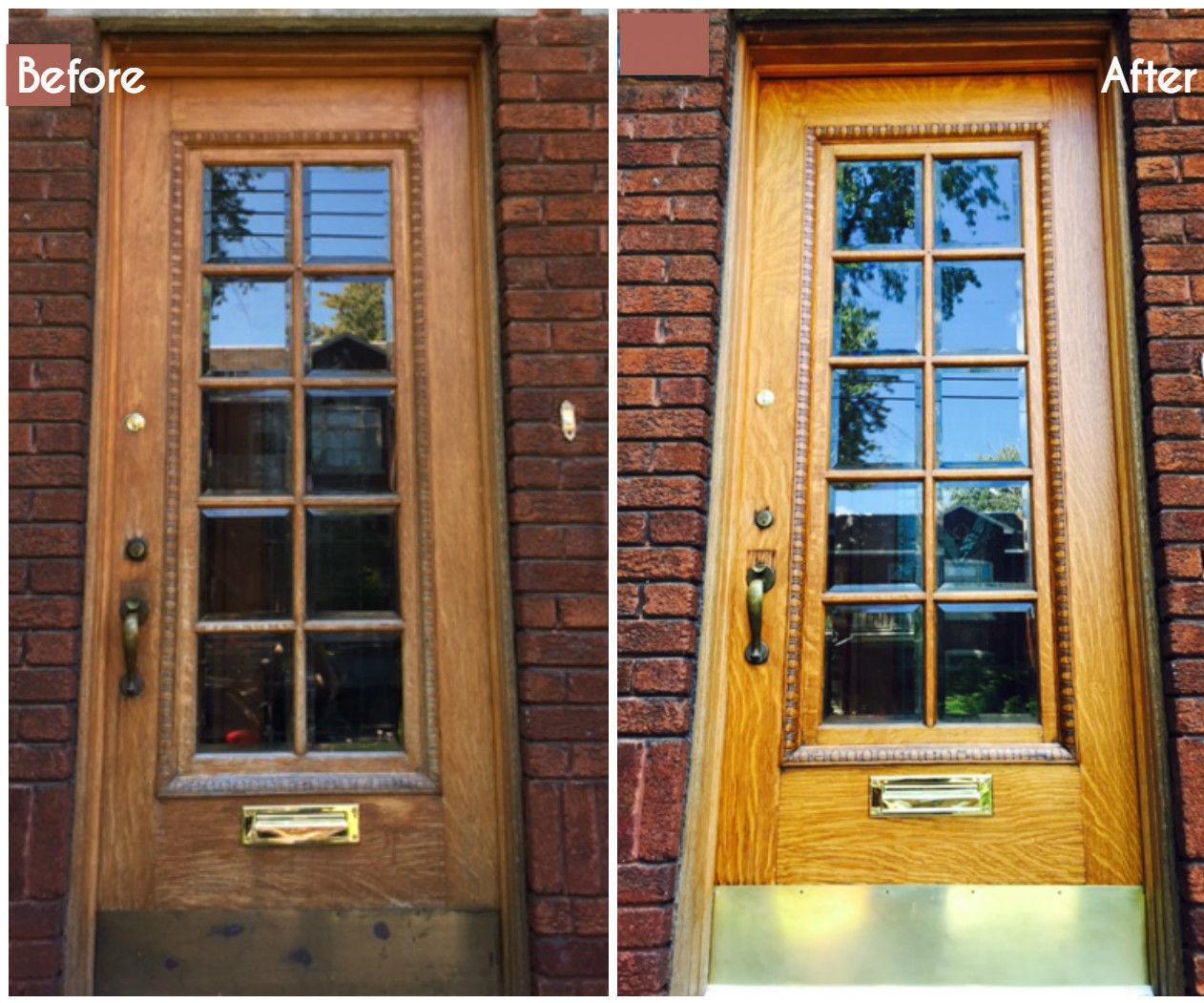 How to restore your old wood front door