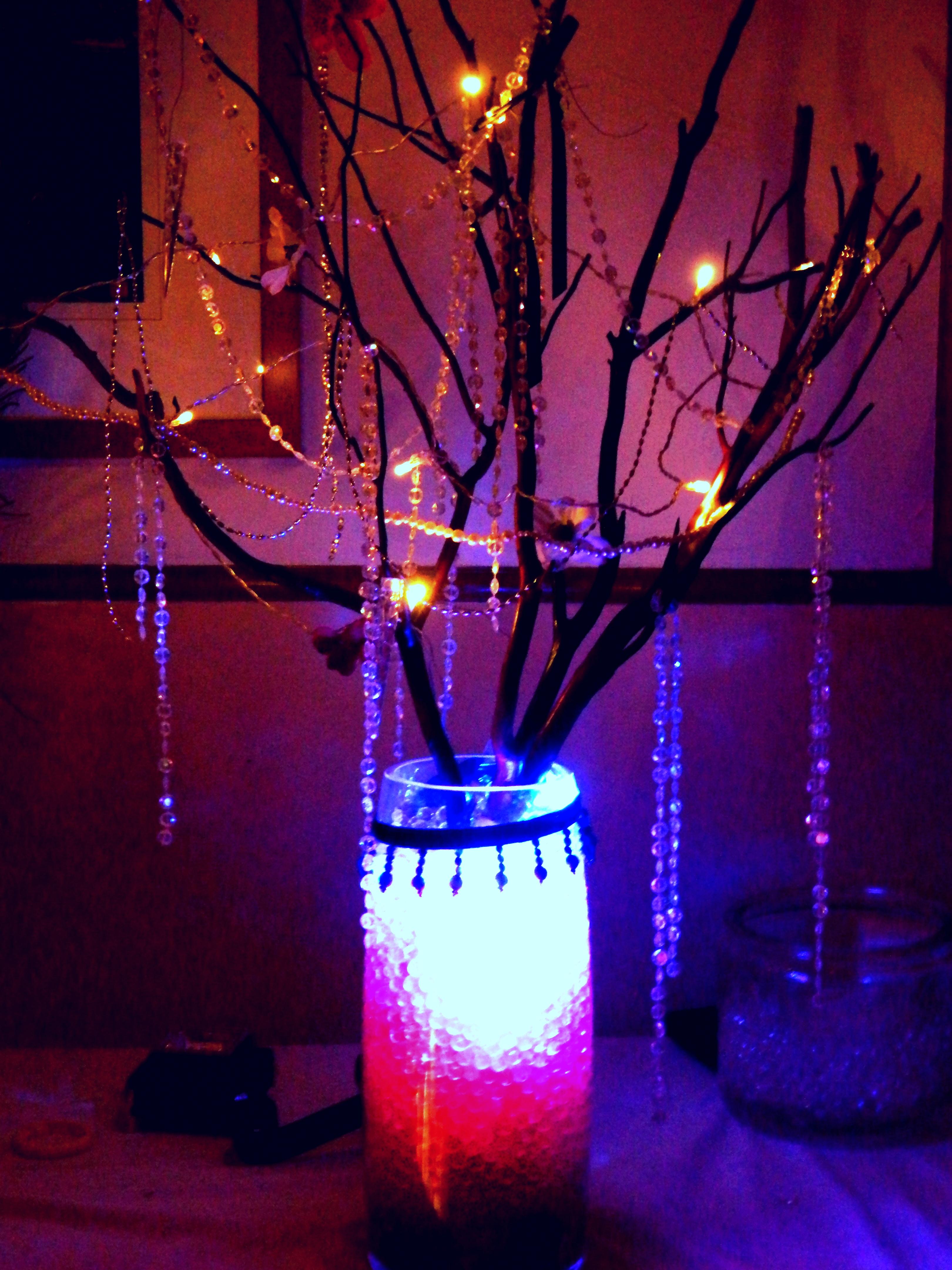 LightedDIY wedding : Crystal Manazanita (wishing) wedding tree