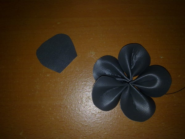 Leather Flower Hairband